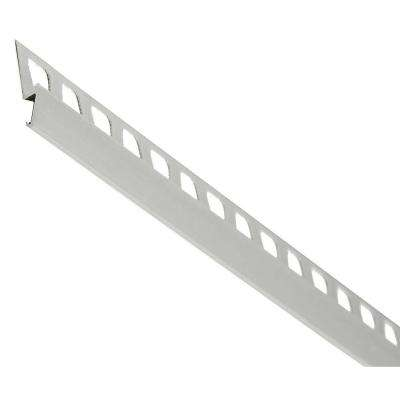 Satin Clear 1.312 in. x 96 in. Aluminum Metal Reducer Tile Edging Trim