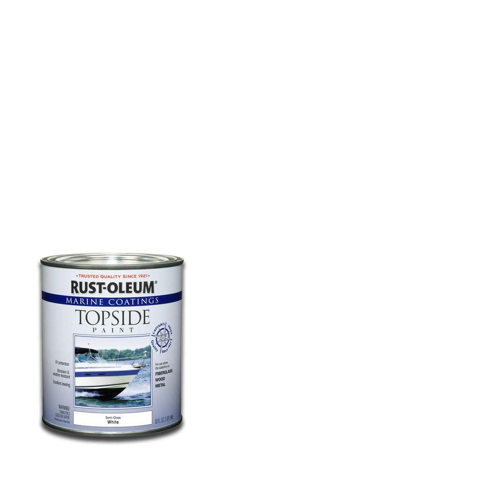 Rust-Oleum Marine 1-qt. White Semi-Gloss Topside Paint-(Case of 4)
