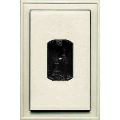 8.125 in. x 12 in. #082 Linen Jumbo Electrical Mounting Block Centered