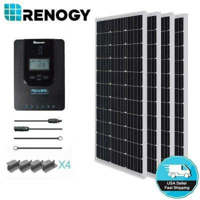 400-Watt 12-Volt Monocrystalline Solar Starter Kit with MPPT Charge  Controller