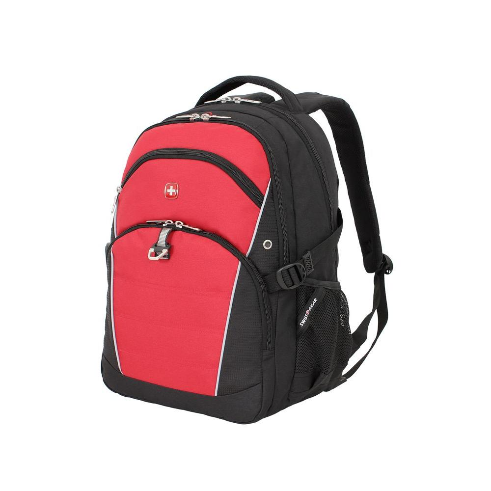 SWISSGEAR 18.5 in. Black and Red Backpack-3272201408 - The Home Depot