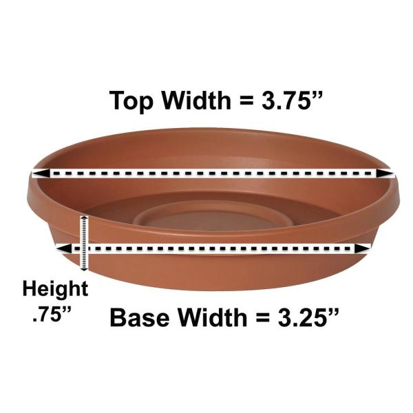 Terra 3.75 in. Terra Cotta Pastic Plant Saucer Tray