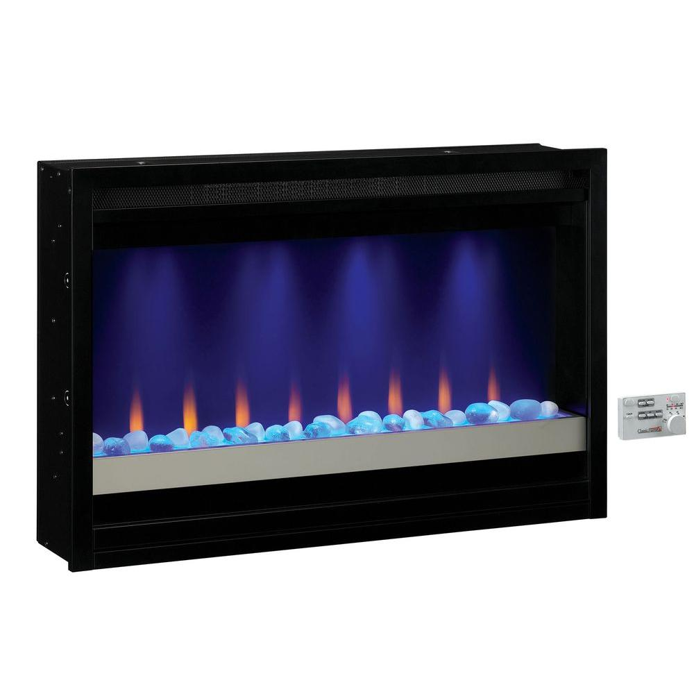 SpectraFire 36 in. Contemporary Built-in Electric Fireplace Insert