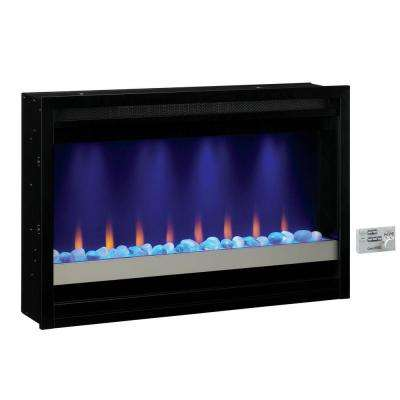 36 in. Contemporary Built-in Electric Fireplace Insert