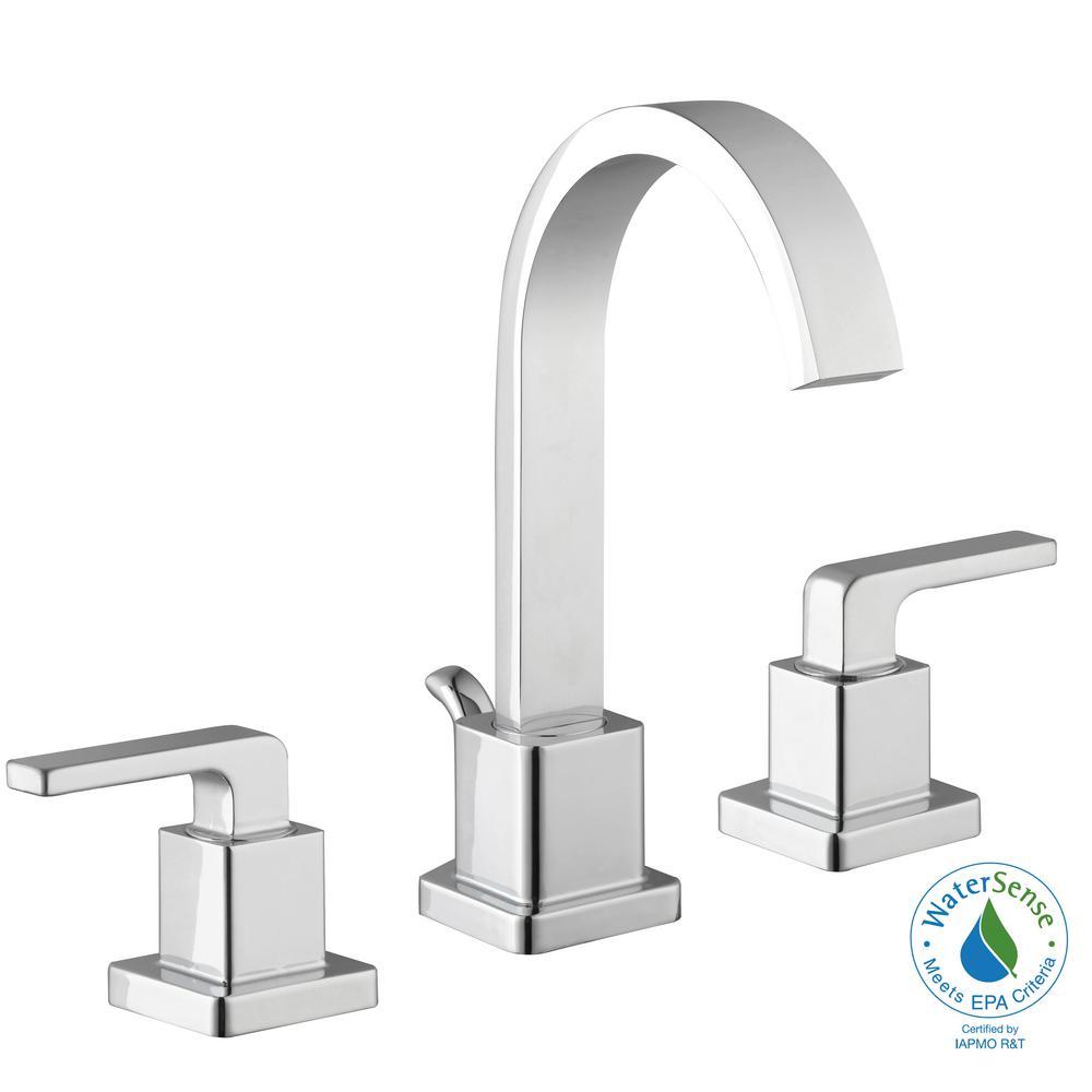 Farrington 8 in. Widespread 2-Handle Hi-Arc Bathroom Faucet in Chrome