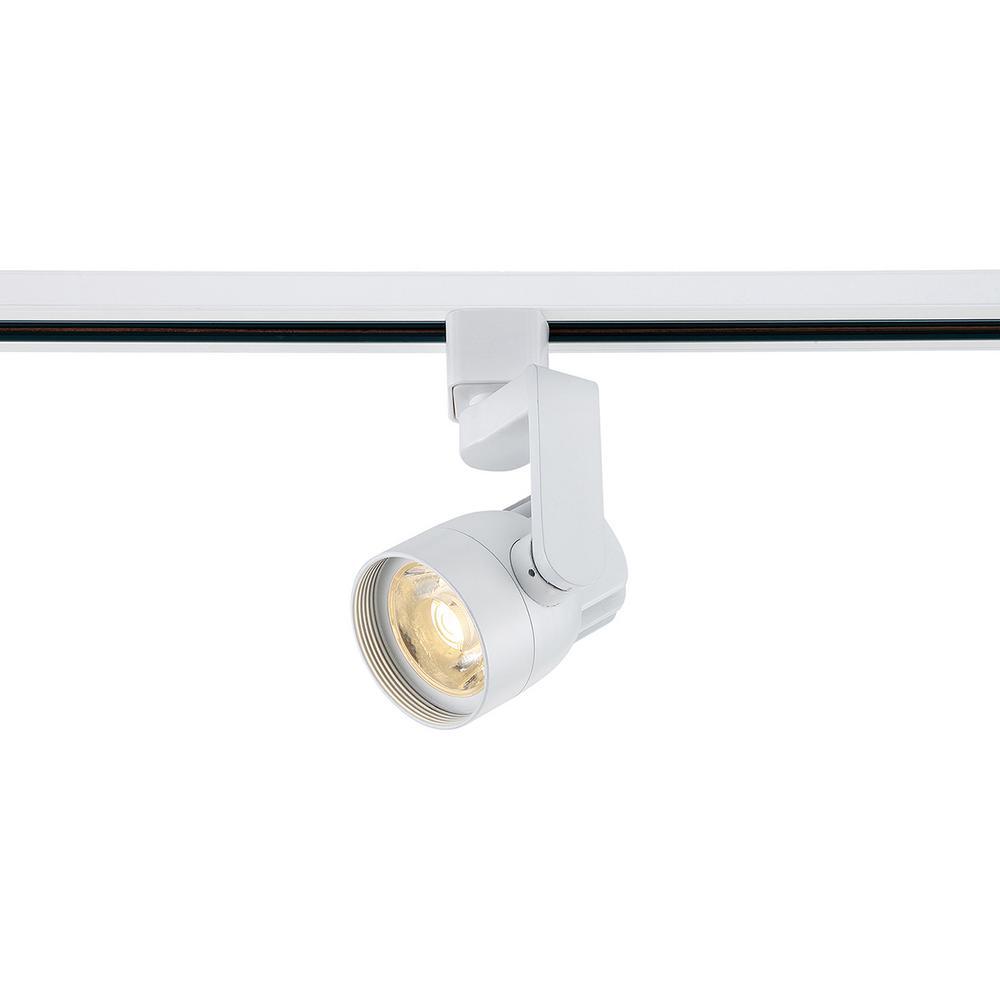 Filament Design White Integrated LED Track Lighting Head