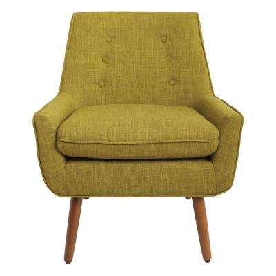 Rhodes Green Fabric Chair with Coffee Legs