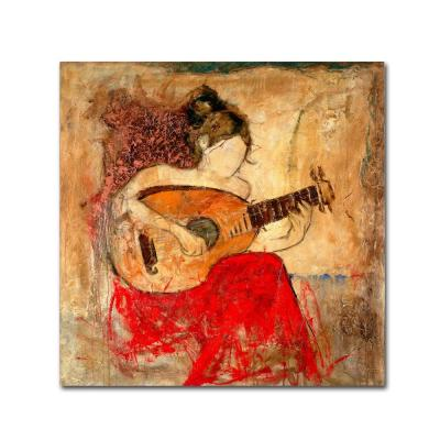 "18 in. x 18 in. ""Vanessa"" by Joarez Printed Canvas Wall Art"