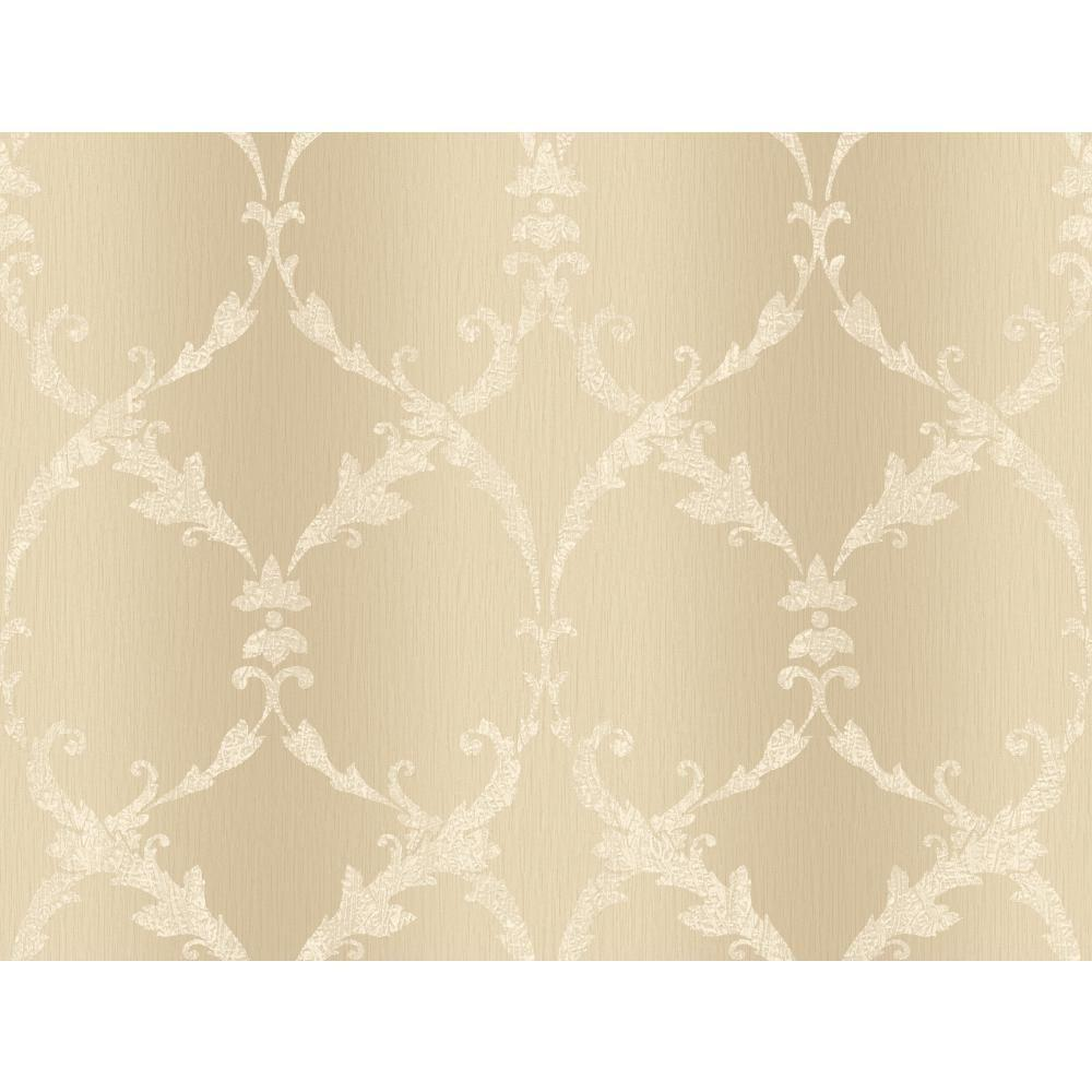 York Wallcoverings Gated Scroll Wallpaper