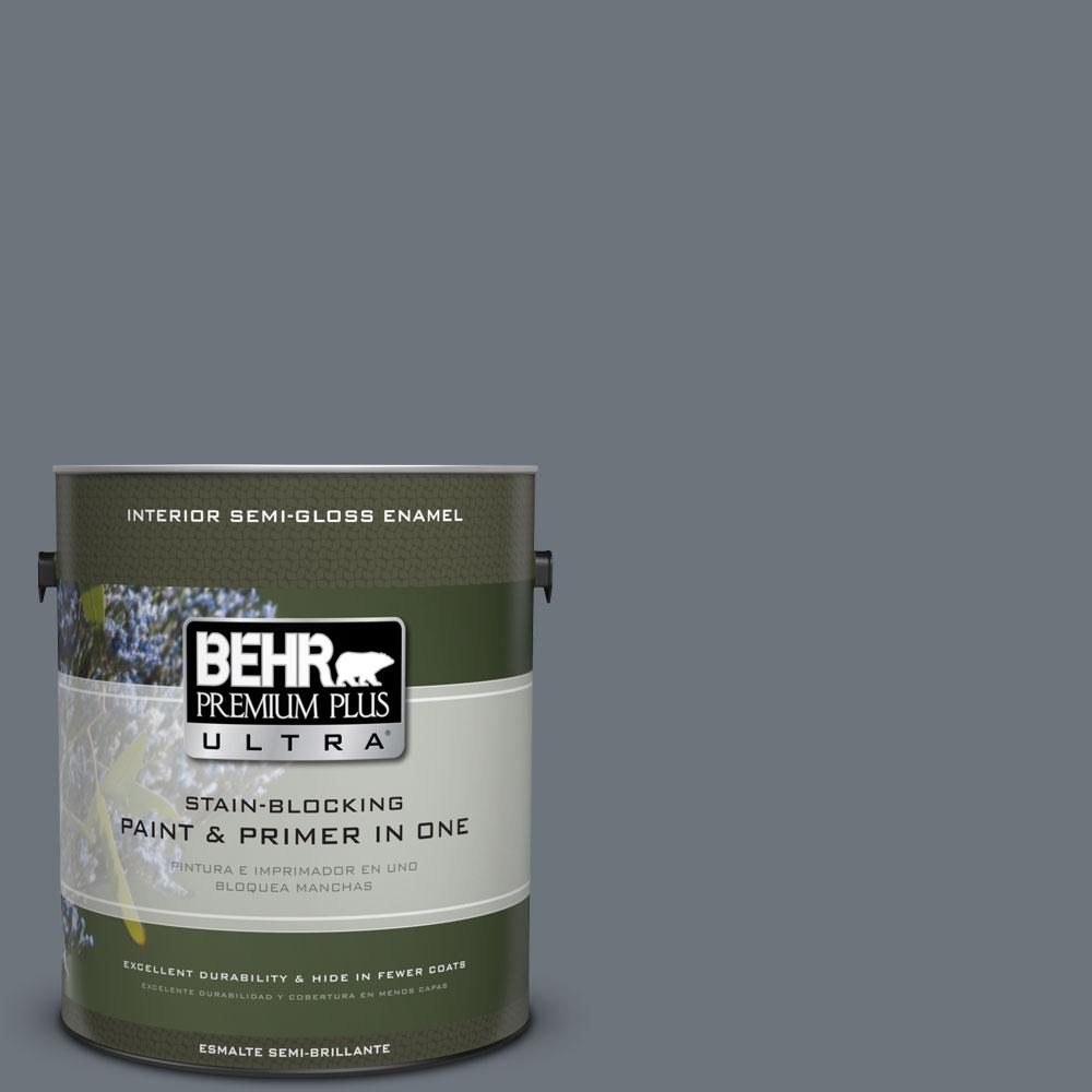 1-gal. #750F-5 Silver Hill Semi-Gloss Enamel Interior Paint