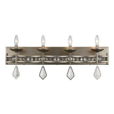 Eli 4-Light Antique Silver Leaf Bath Light