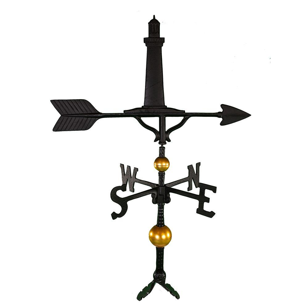 32 in. Deluxe Black Cape Cod Lighthouse Weathervane