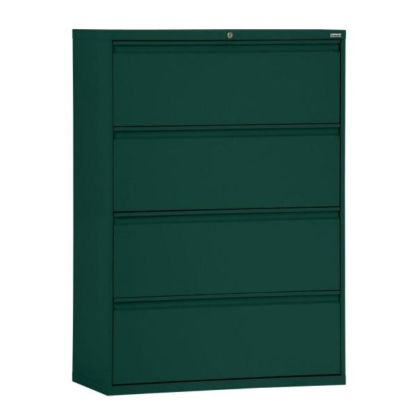 Sandusky 800 Series 30 in. W 4-Drawer Full Pull Lateral File