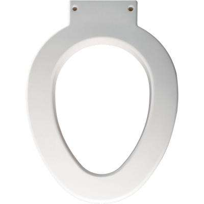 Medic-Aid Elongated Closed Front Toilet Seat in White