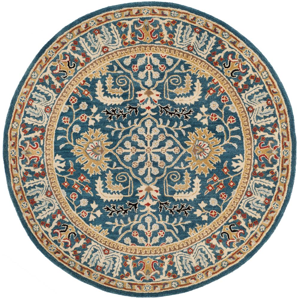 Antiquity Dark Blue/Multi 6 ft. x 6 ft. Round Area Rug