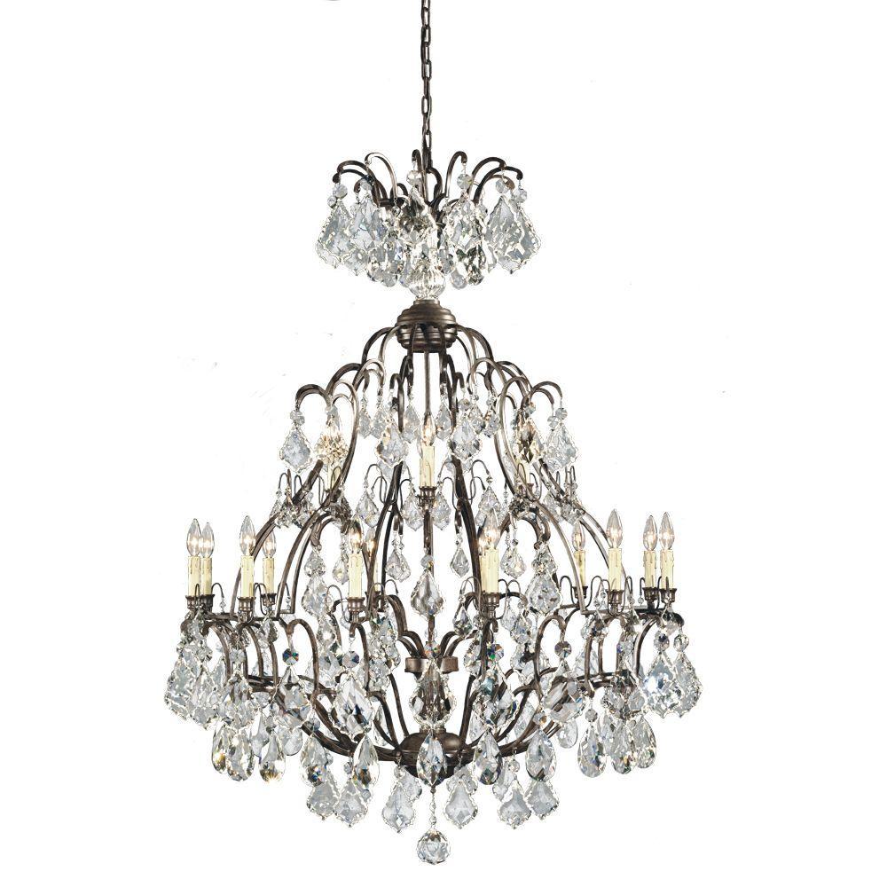World Imports Elegance Light Bronze Hangin Chandelier