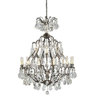 Timeless Elegance Collection 18-Light Bronze Hanging Chandelier