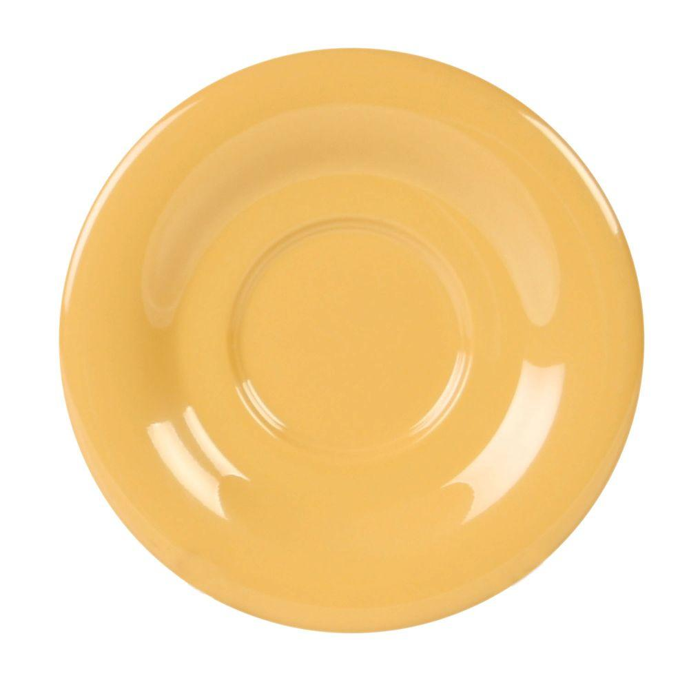 Restaurant Essentials Coleur 5-1/2 in. Saucer for Cr313/Cr5044/Ml901/Ml9011 in Yellow (12-Piece)