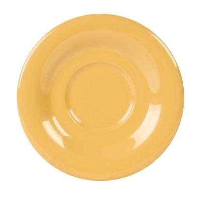 Coleur 5-1/2 in. Saucer for Cr313/Cr5044/Ml901/Ml9011 in Yellow (12-Piece)