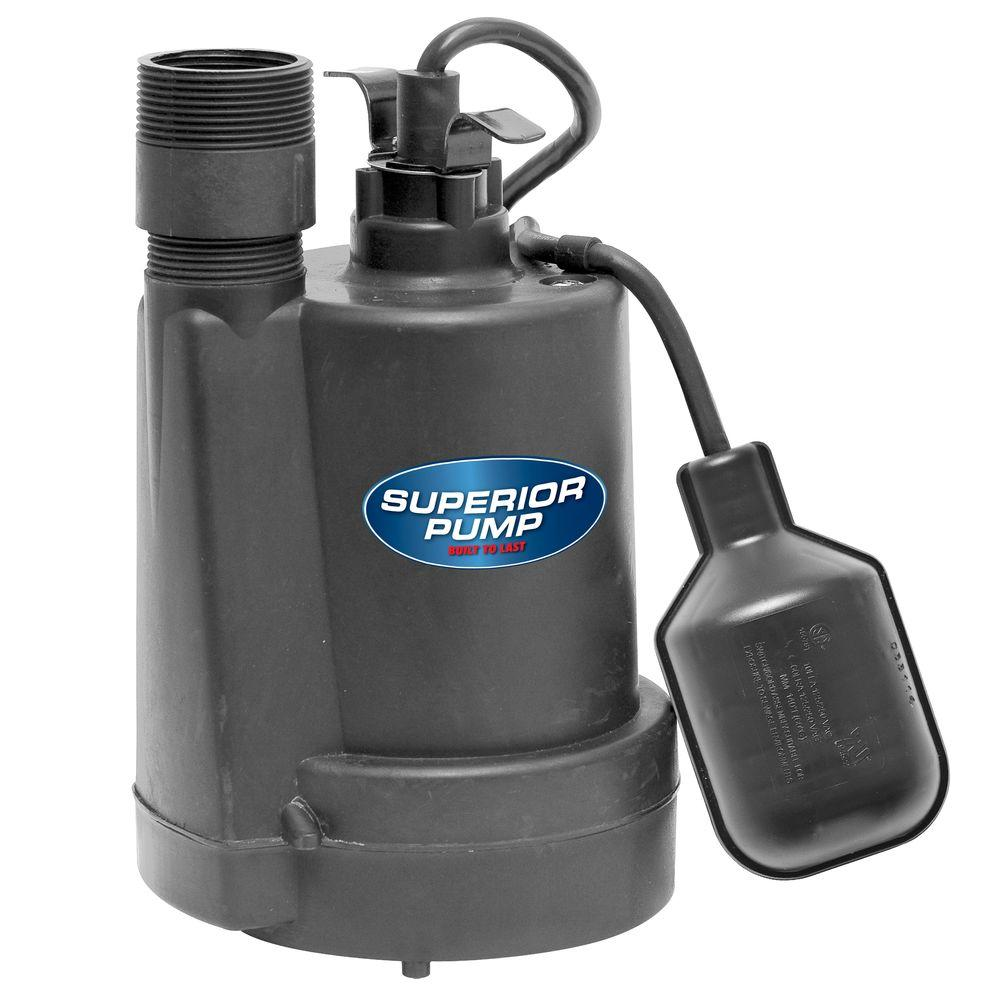 1/4 HP Submersible Thermoplastic Sump Pump-92250