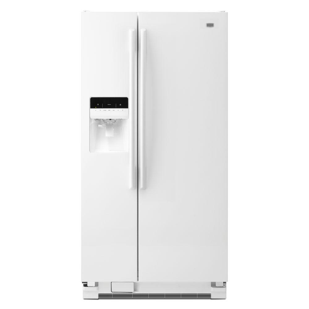 Maytag 33 in. W 22.0 cu. ft. Side by Side Refrigerator in White-DISCONTINUED