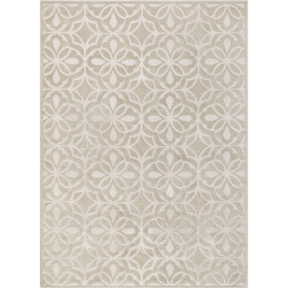 Well Woven Orchid Cream Clara Neutral Farmhouse Lattice Geometric 3 Ft 11 In X 5 Ft 3 In High Low Area Rug