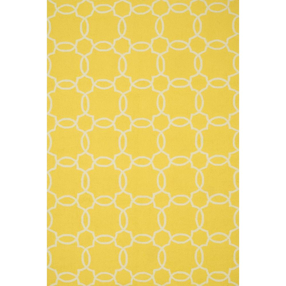 Loloi Rugs Ventura Lifestyle Collection Yellow/Ivory 3 ft. 6 in. x 5 ft. 6 in. Area Rug