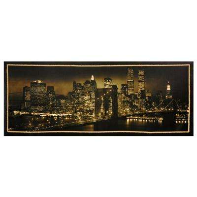 "Oriental Furniture 16 in. x 40 in. ""New York Skyline"" Canvas Wall Art"