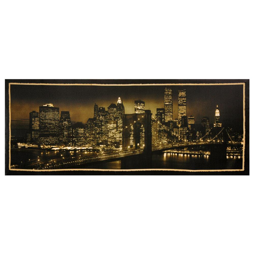 Oriental furniture 16 in x 40 in new york skyline for Asian furniture nyc