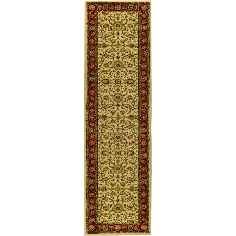 Lyndhurst Ivory/Red 2 ft. 3 in. x 6 ft. Runner