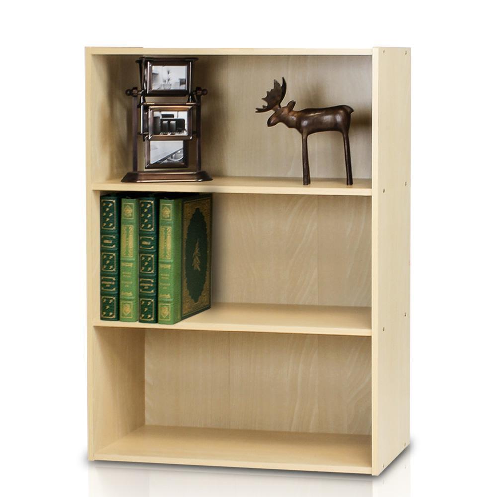 Pasir 3-shelf Steam Beech Bookcase with open shelves