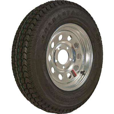 ST215/75D-14 K550 BIAS 1870 lb. Load Capacity Chrome 14 in. Bias Tire and Wheel Assembly