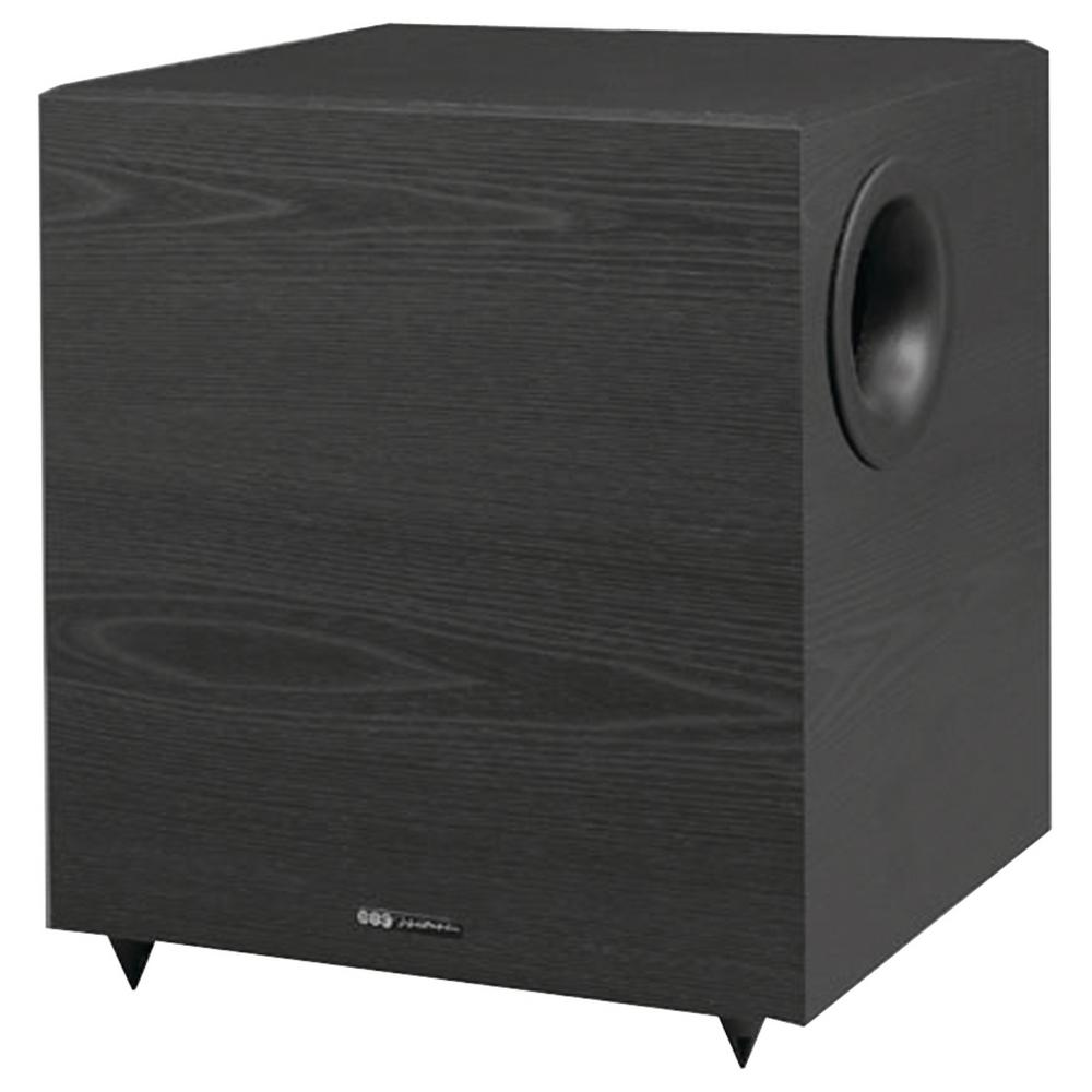 430-Watt 12 in. Down-Firing Powered Subwoofer for Home Theater and Music The Venturi V1220 Powered Subwoofer from BIC America offers unsurpassed performance for its price. It has a high-current 200-Watt (430-Watt peak) amplifier (designed by BASH Technology) combined with a 12 in. heavy-duty long-throw woofer and heavy-duty magnet. The patented Venturi vent eliminates port noise that's often heard from other subwoofers when playing demanding music passages and videos. The V1220 also features an adjustable crossover, automatic signal sensing, high level inputs and both Dolby Pro Logic and Dolby Digital/DTS LFE inputs.