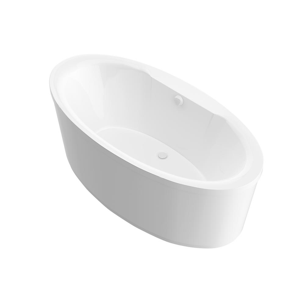 Universal Tubs Sunstone 5.7 ft. Acrylic Center Drain Oval Bathtub in White was $1521.99 now $1141.49 (25.0% off)