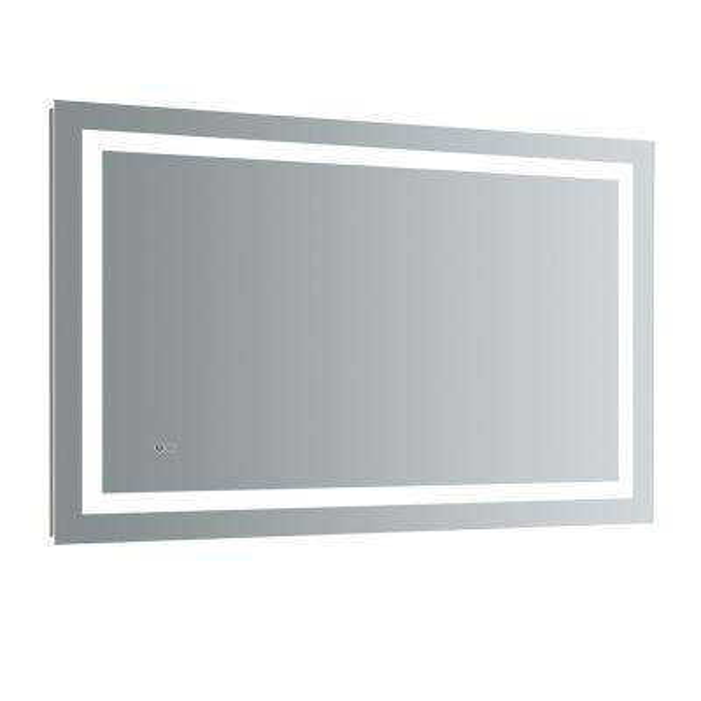H Frameless Single Bathroom Mirror With Led