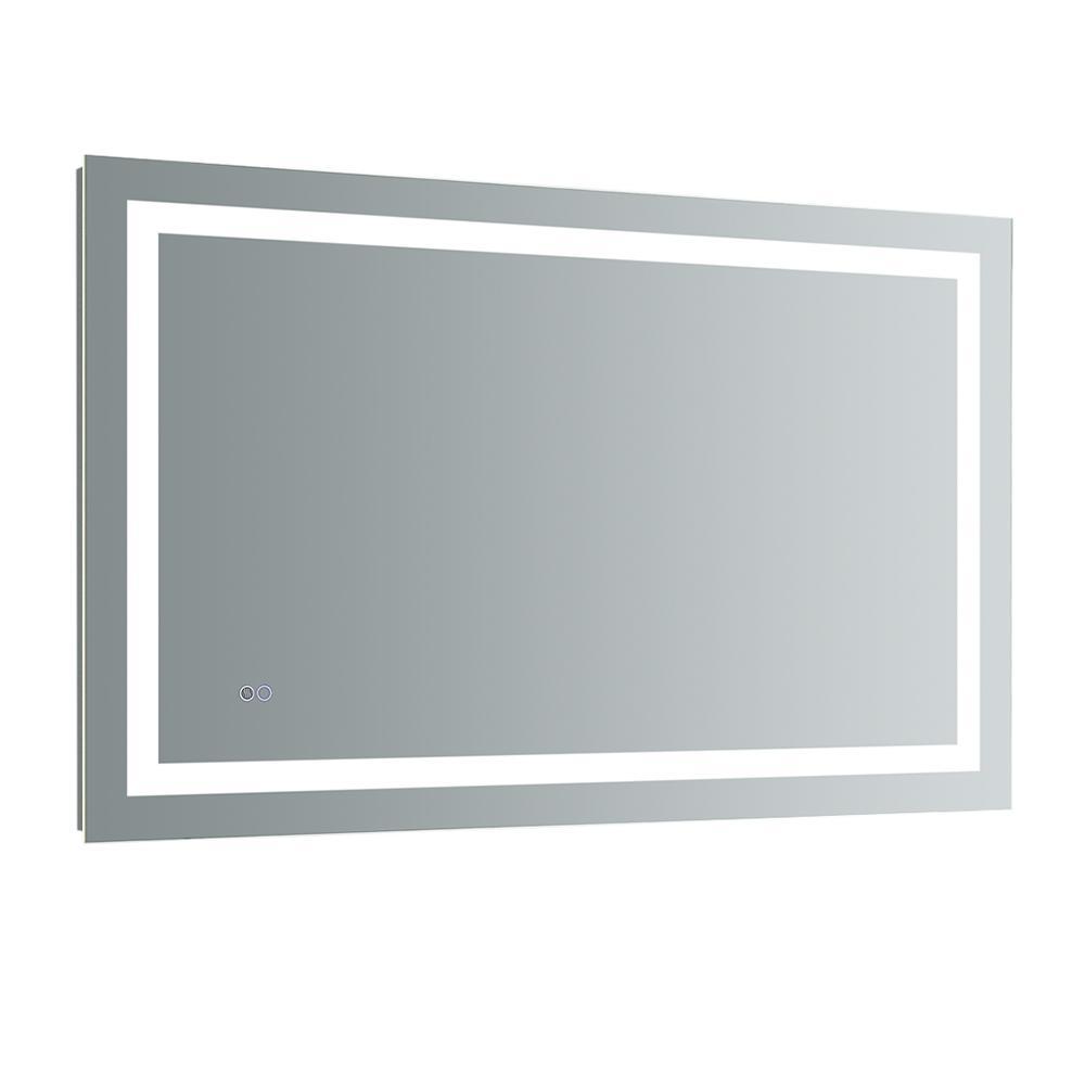 Santo 48 in. W x 30 in. H Frameless Rectangular LED Light Bathroom Vanity Mirror