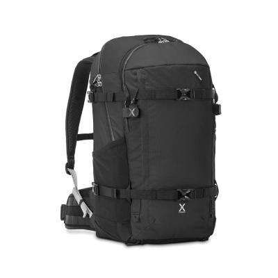 Venturesafe 22 in. Black Backpack with Laptop Compartment and Raincover