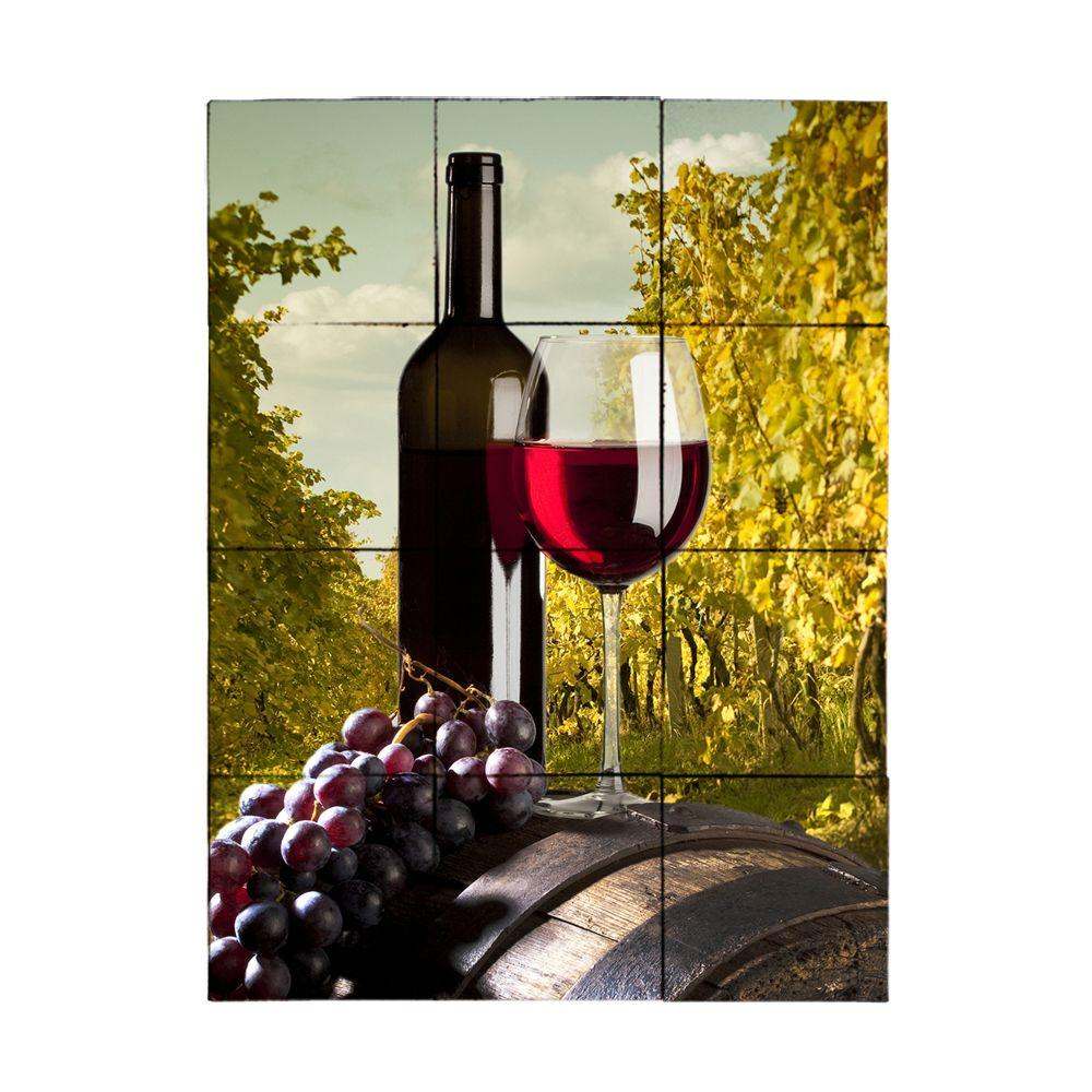 Tile My Style Wine2 18 in. x 24 in. Tumbled Marble Tiles (3 sq. ft. /case)