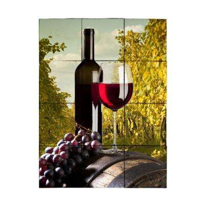 Wine2 18 in. x 24 in. Tumbled Marble Tiles (3 sq. ft. /case)