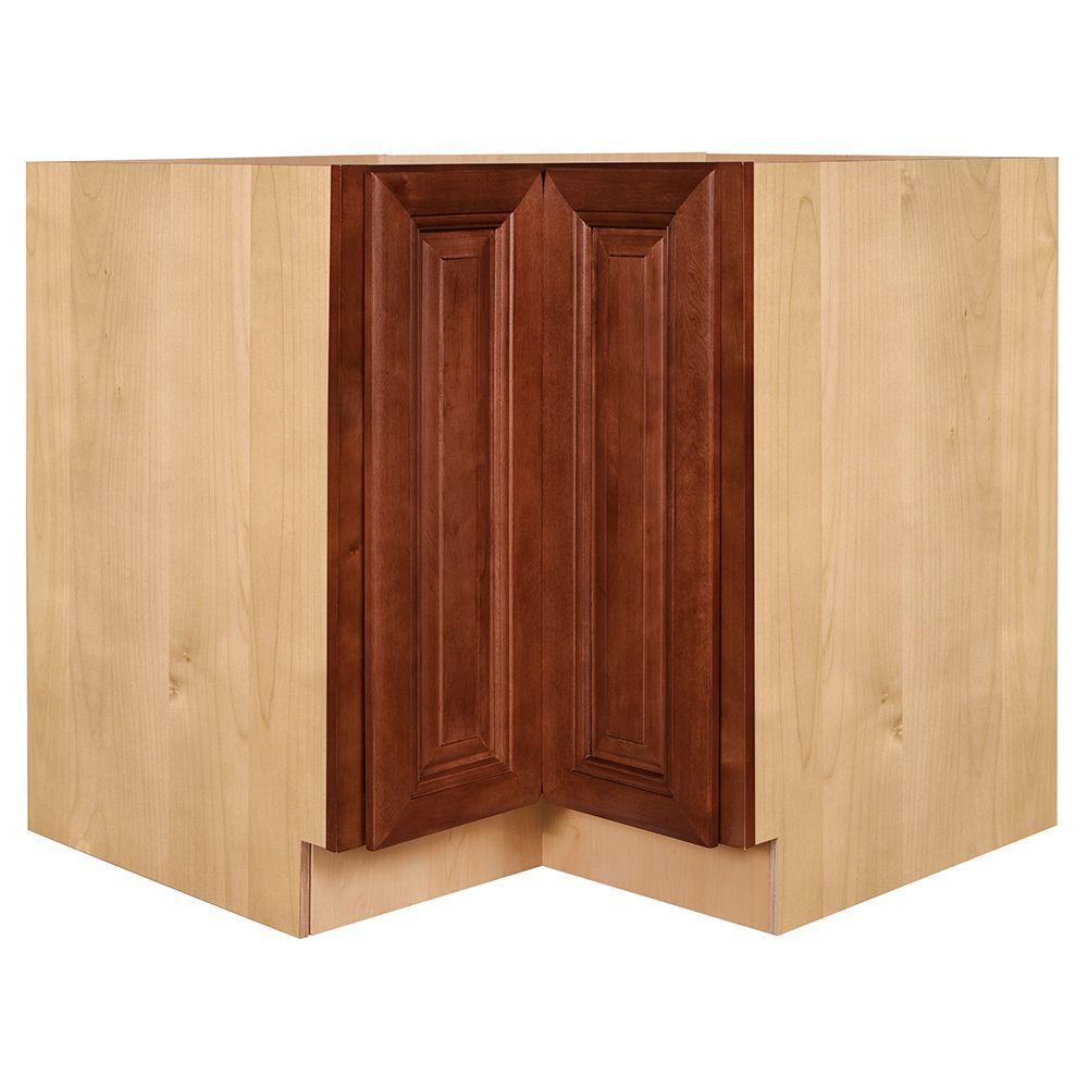 Lyndhurst Assembled 36 x 34.5 x 24 in. BaseEasy Reach Super Susan Cabinet in Cabernet