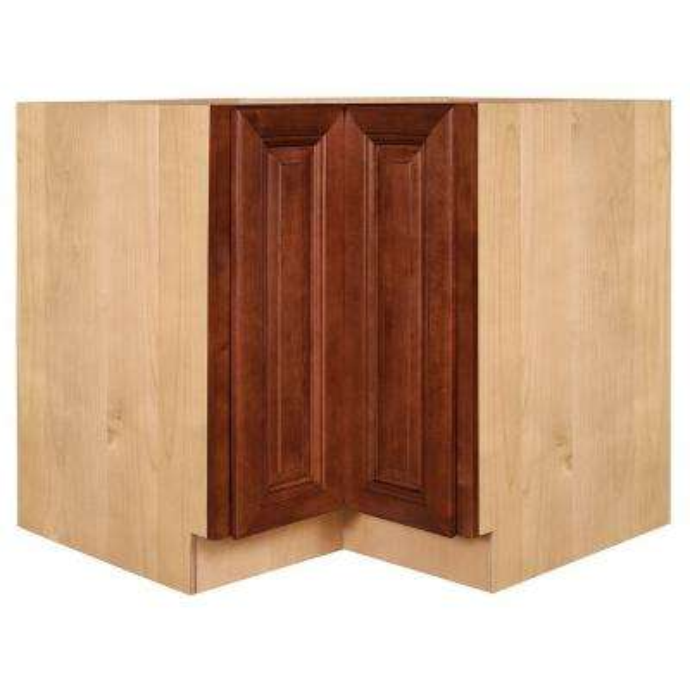 Lyndhurst Assembled 36x34.5x24 in. Easy Reach Super Susan Hinge Right Base Kitchen Corner Cabinet in Cabernet