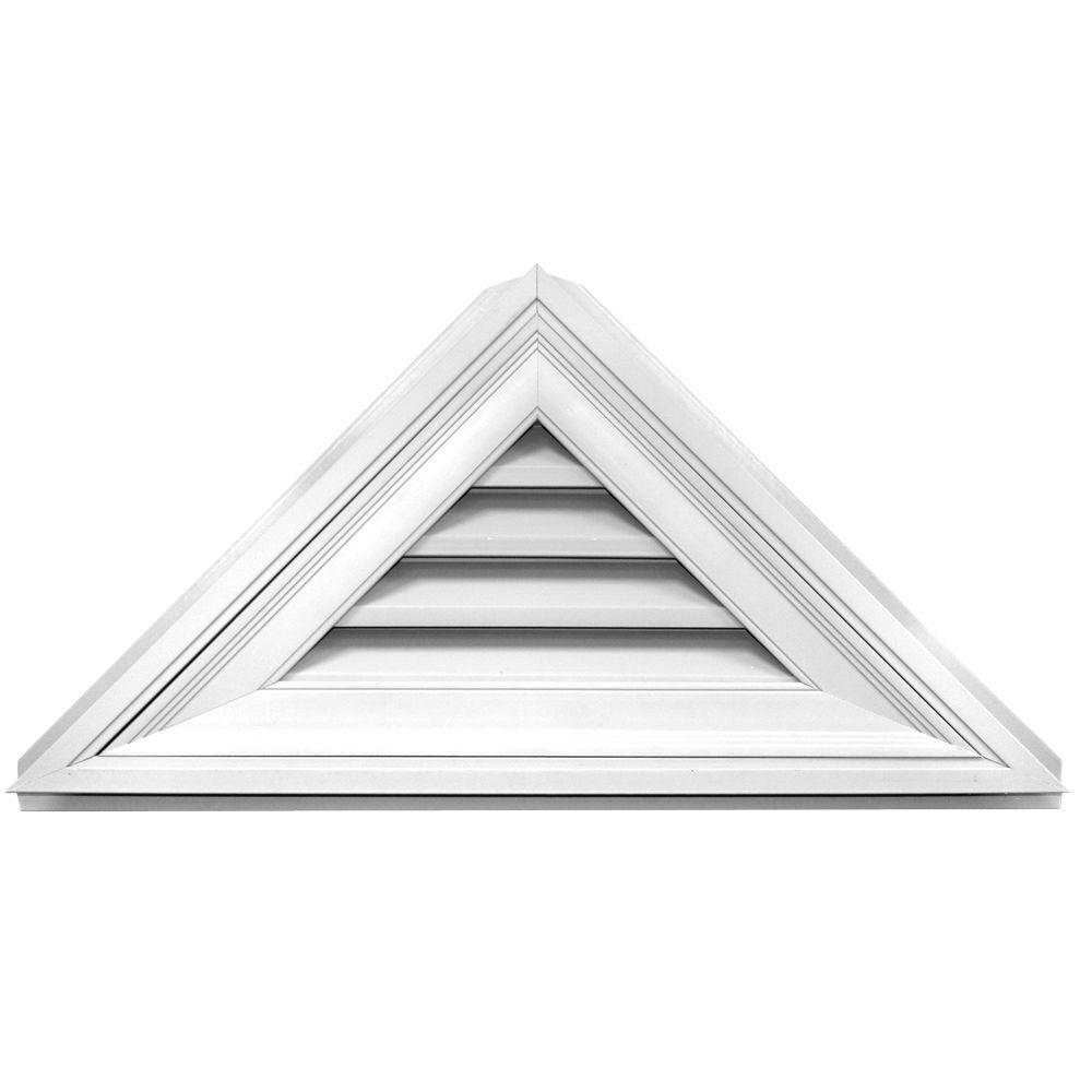 Builders Edge 12/12 Triangle Gable Vent 34 in. x 17 in. #...