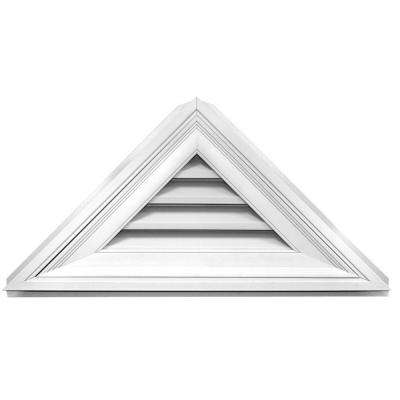 12/12 Triangle Gable Vent 34 in. x 17 in. #001 White