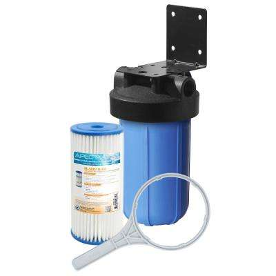 All Purpose 1-Stage Whole House Water Filtration System With 4.5 ix 10 in. Reusable and Washable Pleated Sediment Filter