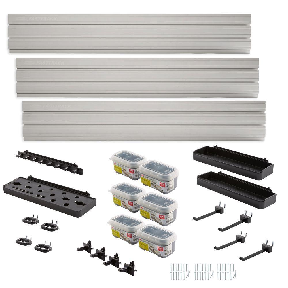 Rubbermaid Fasttrack Garage Wall Panel Starter Kit 23