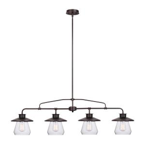 Globe Electric Angelina 4-Light Oil-Rubbed Bronze Industrial Vintage Pendant by Globe Electric