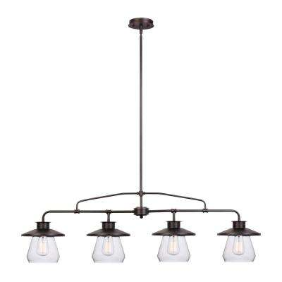 Angelina 4-Light Oil-Rubbed Bronze Industrial Vintage Pendant