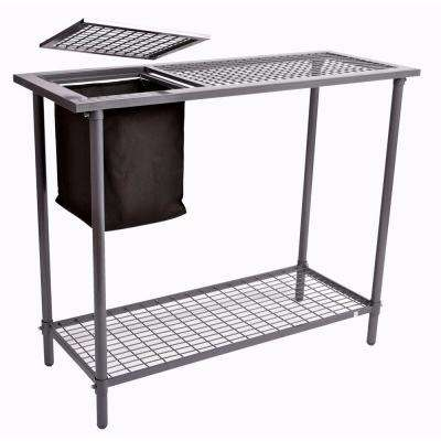 Garden and Greenhouse Wire Grid Top Potting Bench / Table