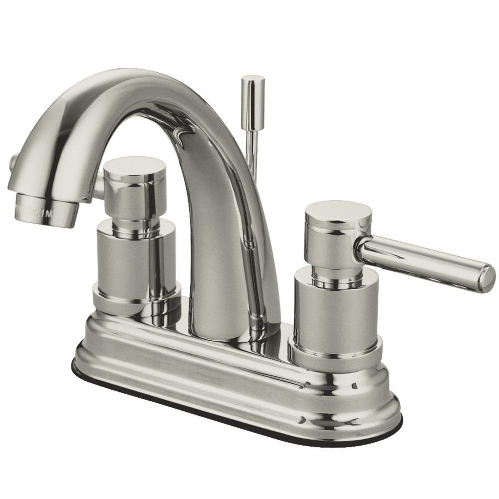 Concord 4 in. Centerset 2-Handle Bathroom Faucet in Brushed Nickel