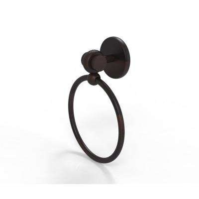 Satellite Orbit Two Collection Towel Ring with Twist Accent in Venetian Bronze